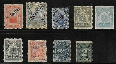 Peru'  1897-26    Used  Stamps   USED -VF   # Mich. Lot
