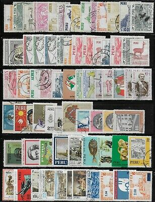 Peru'  1962-75    Used  Stamps   USED -VF   # Mich. Lot
