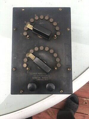 General Radio - Decade Resistance Box Type 102D Serial No 403