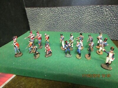 DEL PRADO RELIVE WATERLOO BRITISH & FRENCH INFANTRY MIXED JOB LOT 28 mm SCALE