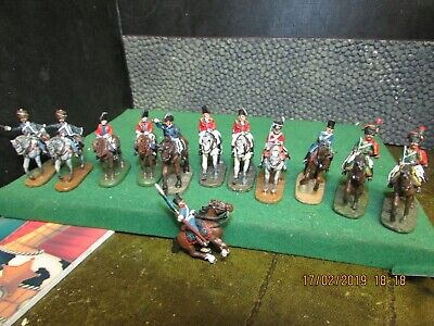 DEL PRADO RELIVE WATERLOO BRITISH & FRENCH CAVALRY MIXED JOB LOT 28 mm SCALE