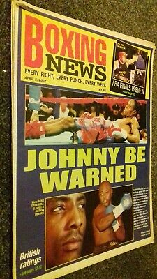 Apr 5Th 2002  Boxing News Johnny Nelson V Ezra Sellers Preview/alessandro Mazzin