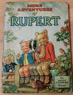 VINTAGE ORIGINAL 1953 RUPERT BEAR ANNUAL, PRICE UNCLIPPED 4/-, not inscribed