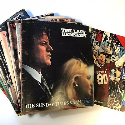 Collection Of x45 Vintage Sunday Times Magazines From 1978/79/1980/81