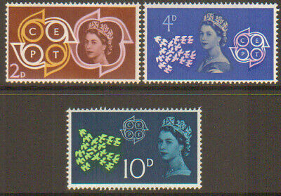 Great Britain GB 1961 CEPT stamp set Unmounted Mint MNH SG 626-628