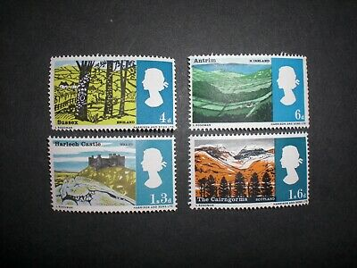 Great Britain GB 1966 Landscapes stamp set Unmounted Mint MNH SG 689-692