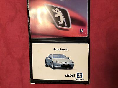 Peugeot 406 Coupe (1997 to 2004) Owners Handbook with Wallet.