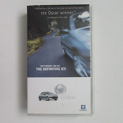 Peugeot 206GTi 5 Minute Promotional VHS Video (1999)
