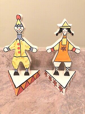 Lorna Bailey Pottery, Limited Edition, Pair of Clowns 2/250