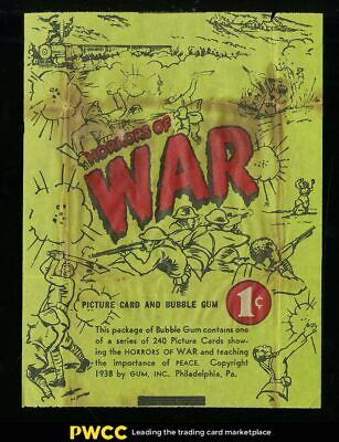 1938 Horrors Of War Type 2 Wax Wrapper, GD (PWCC)