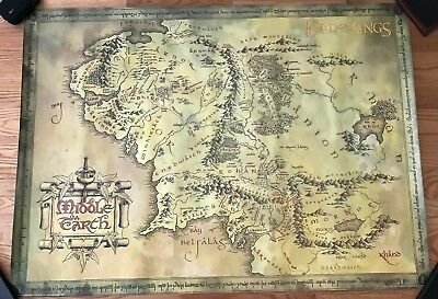 LORD OF THE RINGS - MIDDLE EARTH MAP POSTER - 38.5x53