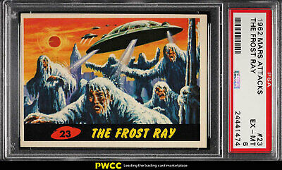 1962 Topps Mars Attacks The Frost Ray #23 PSA 6 EXMT (PWCC)