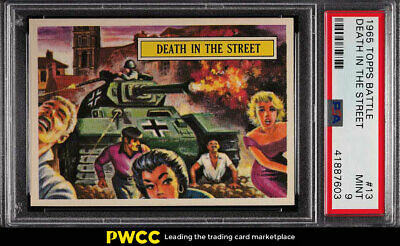 1965 Topps Battle Death In The Street #13 PSA 9 MINT (PWCC)