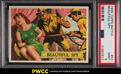 1965 Topps Battle Beautiful Spy #53 PSA 9 MINT (PWCC)