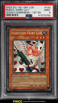 2003 Yu-Gi-Oh! Legacy Darkness 1st Ed Injection Fairy Lily #LOD-100 PSA 9 (PWCC)