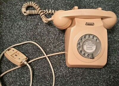 Vintage Dial Rotary Telephone Colchester GPO With Wire good condition old retro