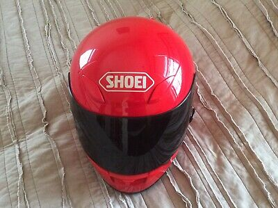 Shoei helmet RF-1000 Red size large with tinted shield.