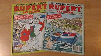 RUPERT BEAR AND FRIENDS comic/magazine, Nos 6 and 9, Dated 25 Jan and 7 Mar 1992