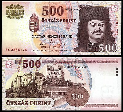 Hungary 500 Forint 2010 paper banknote P#188c Ungarn Magyar UNC