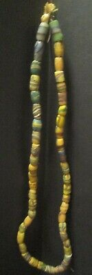 Vintage Antique African Trade Beads Sandcast Glass Beads Mixed Strand