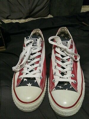 85ce07df78232b Converse Chuck Taylor All Star Ox Low Navy Red White Sneakers Men s Size  10.5