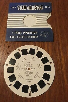 Natives Of Zululand 3029 Sawyers View Master Disc Reel 1950