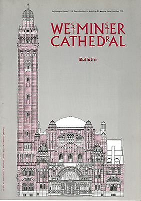 Westminster Cathdral Bulletin Magazines July/august 1993, March & September 1994