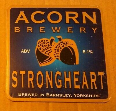 ACORN brewery STRONGHEART cask ale beer badge front pump clip Yorkshire