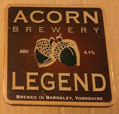 ACORN brewery LEGEND cask ale beer badge front pump clip Yorkshire