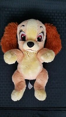 Disney's Babies Plush Lady and the Tramp DOG Lovey Disney Parks Stuffed EUC