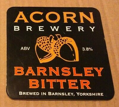 ACORN brewery BARNSLEY BITTER cask ale beer badge front pump clip Yorkshire
