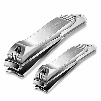BESTOPE Nail Clippers Set Fingernail and Toenail Clipper Cutter2PCS Stainless...