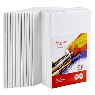 """Artlicious Canvas Panels 12 Pack - 5""""X7"""" Super Value Pack- Artist Boards"""