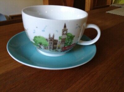 Cath Kidston London Large Cup And Saucer BNIB