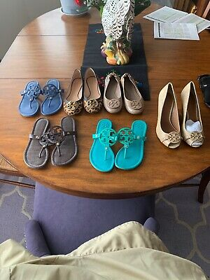 5b31acf77b8a7 TORY BURCH MILLER Sandals Nwob Size 7 Medium Turquoise Leather ...
