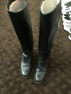5aeb2207905 CHRISTIAN LOUBOUTIN ... Amazing Riding Boots Black Leather + Chain Size 38