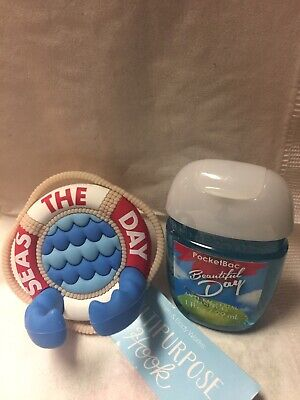 Bath Body Works Seas The Day Life Saver Hook Holder And Hand Gel Beautiful Day