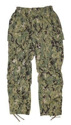 US Navy NWU Type III AOR2 Digital Woodland Uniform Pants - MED REG - SEAL NSW