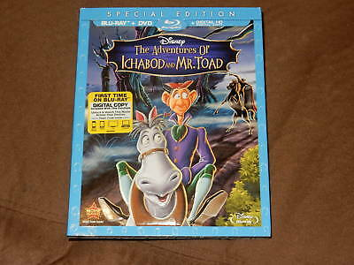Brand New The Adventures Of Ichabod And Mr. Toad Blu-Ray/dvd/digital W/slipcover