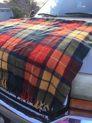 """Buchanan Plaid"" Wool Blanket Throw Oattawa Valley Vintage"