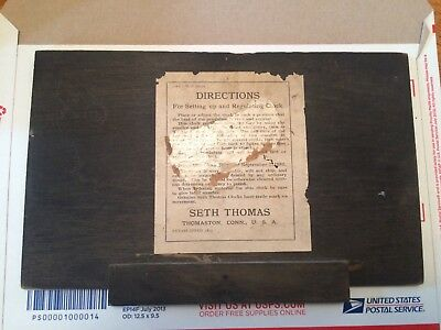 Antique Seth Thomas Adamantine Mantel Clock Case Back Door
