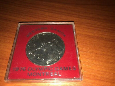 1976 Western Samoa $1 Olympic Games Montreal Cased Coin