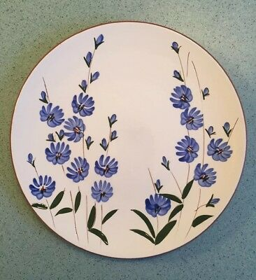 """Vintage Stangl Chicory Pattern 10"""" Dinner Plate Pottery Usa Only One"""
