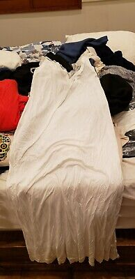 La Perla Nightgown white size 44 extra long lace neck with tags MSRP  303 4d6908c71