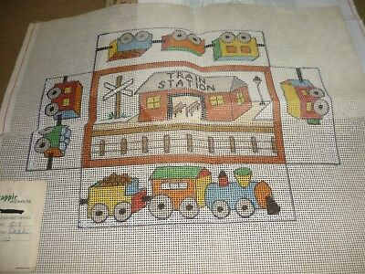 "Kappie Originals - ""train Station""  - Tapestry / Longstitch Canvas  - New"