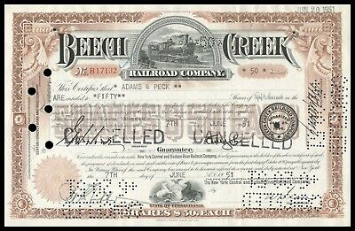1951 Beech Creek Railroad Company (New York Central RR subsidiary) WYSIWYG! F+