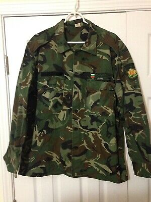 Bulgarian Army Shirt Camouflage Top Patch Bulgaria Military Camo Woodland Medium