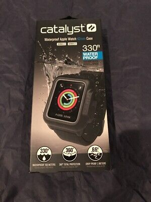 Catalyst Band and Case for Apple Watch 42mm Series 2 and Series 3 Black
