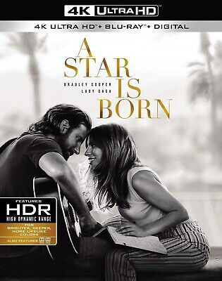 NEW! A Star is Born (4K Ultra HD + Blu-ray + Digital) Brand New, Free Shipping