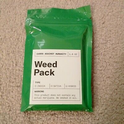 Cards Against Humanity Weed Pack Limited Edition Expansion Pack Brand New CAH.